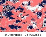 abstract art texture. colorful... | Shutterstock . vector #764063656