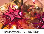 happy new year and christmas... | Shutterstock . vector #764073334