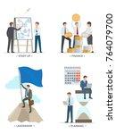 startup and finance  leadership ... | Shutterstock .eps vector #764079700