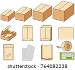 packing materials such as... | Shutterstock .eps vector #764082238