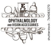set of medical optometry... | Shutterstock .eps vector #764083270