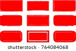 grunge post stamps collection  ... | Shutterstock .eps vector #764084068