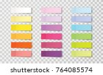 post note sticker set isolated... | Shutterstock .eps vector #764085574