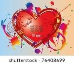 valentines day  background... | Shutterstock .eps vector #76408699