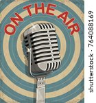 open the air vintage poster. | Shutterstock .eps vector #764088169