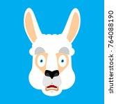 lama alpaca scared omg face...   Shutterstock .eps vector #764088190