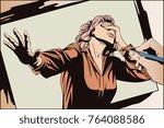 stock illustration. people in...   Shutterstock .eps vector #764088586