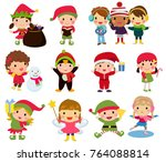 Group Of Christmas Children...