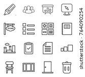 thin line icon set   marker ...   Shutterstock .eps vector #764090254