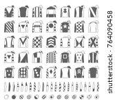 jockey uniform. traditional... | Shutterstock .eps vector #764090458