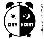 silhouette clock icon on a... | Shutterstock .eps vector #764096524