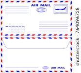 illustration of the airmail... | Shutterstock .eps vector #764096728