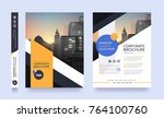 poster flyer pamphlet brochure... | Shutterstock .eps vector #764100760