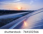 solar photovoltaic power... | Shutterstock . vector #764102566
