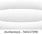 abstract halftone wave dotted... | Shutterstock .eps vector #764117398