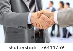 handshake isolated on business... | Shutterstock . vector #76411759