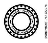 radial tubeless hi performance... | Shutterstock .eps vector #764122978