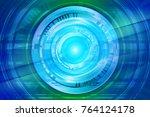 data storage technology concept ...   Shutterstock . vector #764124178