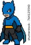 male hero fighter character 8... | Shutterstock .eps vector #764125540