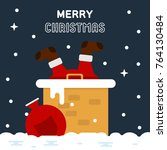 merry christmas funny greeting... | Shutterstock .eps vector #764130484