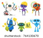 vector cartoon style set of... | Shutterstock .eps vector #764130670