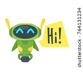 vector cartoon style... | Shutterstock .eps vector #764131234