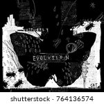 symbolic image of a butterfly... | Shutterstock .eps vector #764136574
