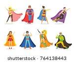vector illustration in flat... | Shutterstock .eps vector #764138443