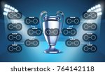 football tournament scheme.... | Shutterstock .eps vector #764142118