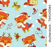 vector cartoon style cute...   Shutterstock .eps vector #764145064