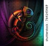 vector concept of fictional...   Shutterstock .eps vector #764145469