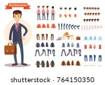man  businessman character... | Shutterstock .eps vector #764150350