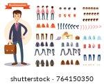 man  businessman character... | Shutterstock .eps vector #764150350