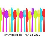 cutlery background colours ... | Shutterstock .eps vector #764151313