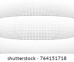 abstract halftone wave dotted... | Shutterstock .eps vector #764151718
