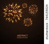 fireworks on twilight... | Shutterstock .eps vector #764155024