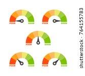 credit score set | Shutterstock .eps vector #764155783