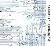 vector circuit board... | Shutterstock .eps vector #764155960