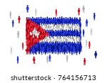vector cuba state flag formed... | Shutterstock .eps vector #764156713