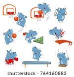 set of vector cartoon...   Shutterstock .eps vector #764160883