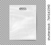 realistic 3d plastic bag... | Shutterstock .eps vector #764161540