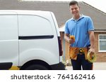 portrait of electrician with...   Shutterstock . vector #764162416