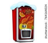 machine for sugary soda water... | Shutterstock .eps vector #764164024