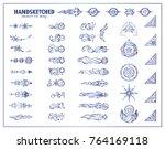 vector set of vintage arrows ... | Shutterstock .eps vector #764169118