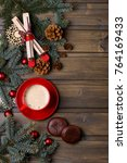 coffee and cookie with new year ... | Shutterstock . vector #764169433