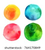 a set of abstract watercolour... | Shutterstock .eps vector #764170849