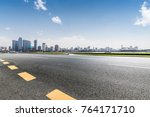 panoramic skyline and buildings ... | Shutterstock . vector #764171710
