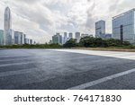 empty road with modern business ... | Shutterstock . vector #764171830