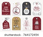 christmas gift tags | Shutterstock .eps vector #764172454