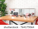 set of decorative cosmetics and ... | Shutterstock . vector #764175064